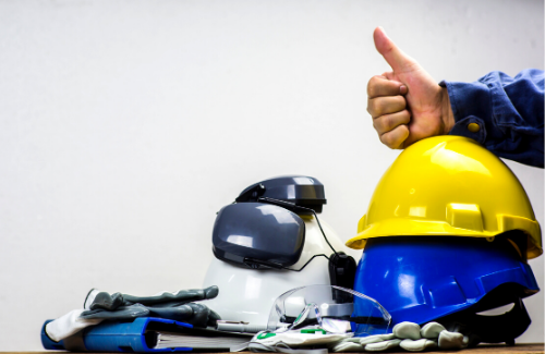 PPE with thumbs up